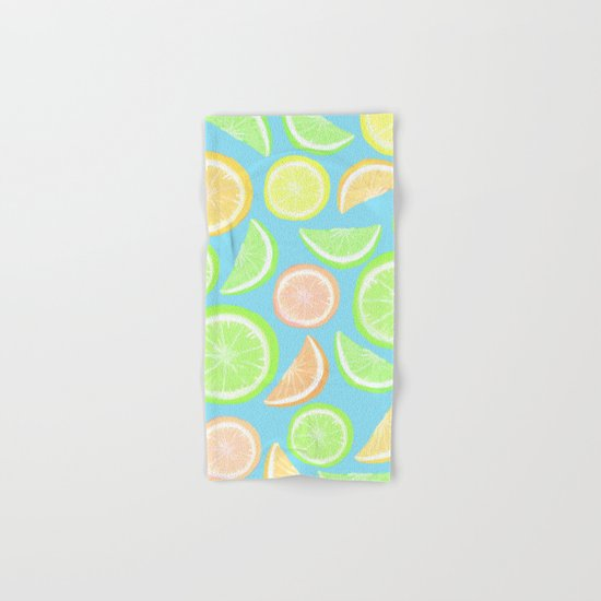 Mixed Citrus - blue Hand & Bath Towel