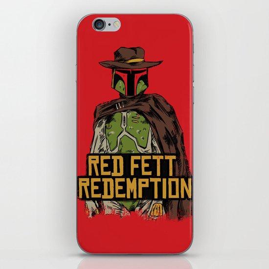 Red Fett Redemption iPhone & iPod Skin