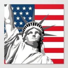 Pop Art Statue Of Liberty Canvas Print