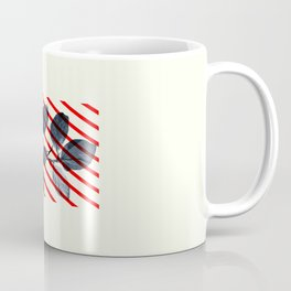 Modern art collage. Leaf and shape. Coffee Mug