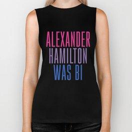Alexander Hamilton Was Bi #2 Biker Tank