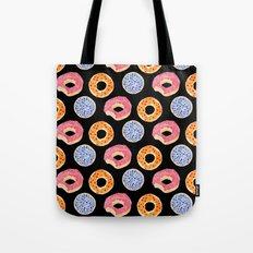 sweet things: doughnuts (black) Tote Bag