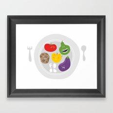 Healthy food. Framed Art Print