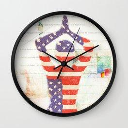 Americana Yoga Wall Clock