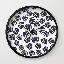 Abstract Floral V Wall Clock