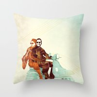 italian Throw Pillows featuring Vintage Italian by RadFive