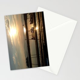 Lake Champlain Ferry to Burlington Vermont at Sunset Stationery Cards