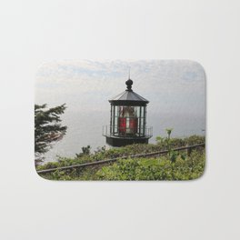 The Red Beacon On Tillamock Bay Bath Mat
