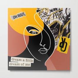 Dream Portrait Collage Metal Print