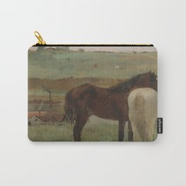 Horses in a Meadow Carry-All Pouch