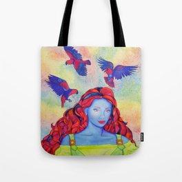 Eclectus Parrot Bird oman Tote Bag