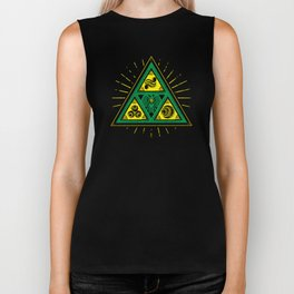 The Tribal Triforce Biker Tank