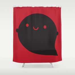 Evil Twin Black Ghost - Kawaii Halloween Shower Curtain