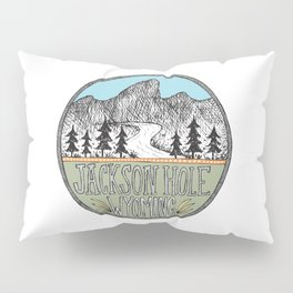 Jackson Hole circle illustration Pillow Sham