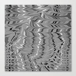 swirlscape, b&w Canvas Print