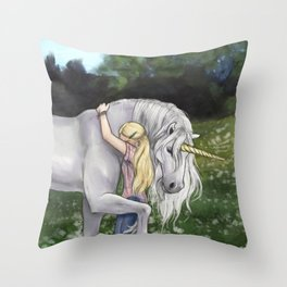 Finding Innocence Throw Pillow