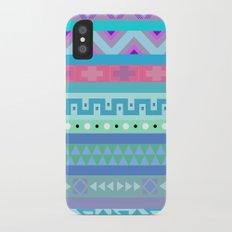 Calm Colored Tribal Print Slim Case iPhone X