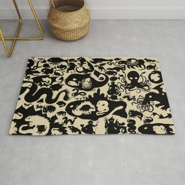 Size Chart of Sea Monsters Rug