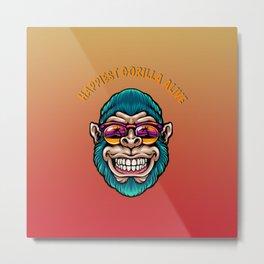 Happiest gorilla alive Metal Print
