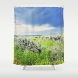 Sagebrush Steppe Before the Storm Shower Curtain