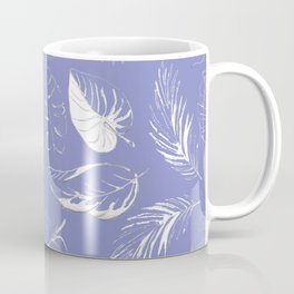 pattern with tropical white leaves Coffee Mug