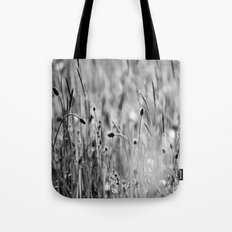 Once in the meadow - photography black&white Tote Bag