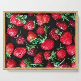 Strawberries Serving Tray