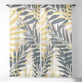 Palm Leaves Sheer Curtain
