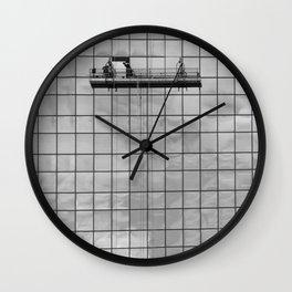 Repairing the sky Wall Clock