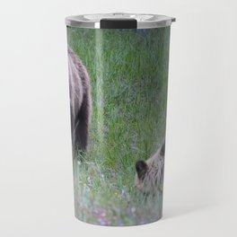 Grizzly mother & cub in Jasper National Park | Canada Travel Mug