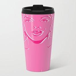 Lady in Pink Metal Travel Mug