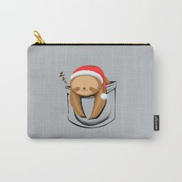 Sloth in a Pocket Xmas Carry-All Pouch