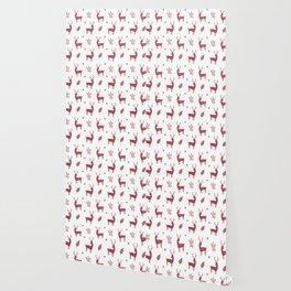 Christmas Red Reindeers Wallpaper