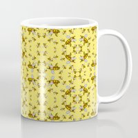 bees Mugs featuring Bees by Mona Harris