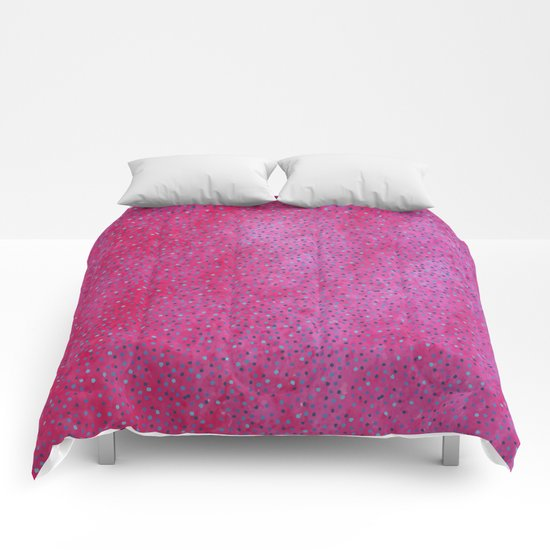 Pink & Blue Polka Dots #society6 #buyart #decor Comforters
