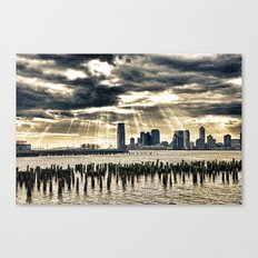 January On The Hudson Canvas Print
