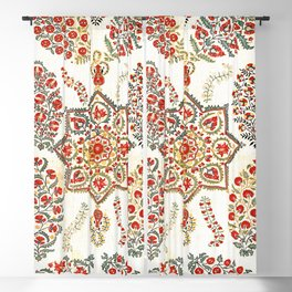 Bokhara Suzani South West Uzbekistan Embroidery Blackout Curtain