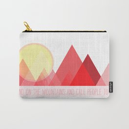 Geometric Color Block Mountains (Reds) Carry-All Pouch