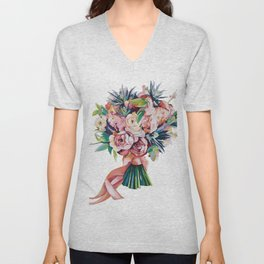 Wedding bouquet Unisex V-Neck
