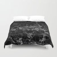 seoul Duvet Covers featuring Seoul by Line Line Lines
