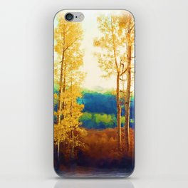 Faded Aspens iPhone Skin