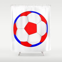 Red White And Blue Football Shower Curtain