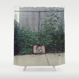 wine, trash Shower Curtain
