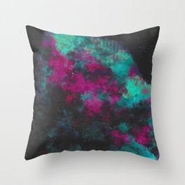 """Cellular Migration"" (Fuchsia/Teal) Digital Painting // Fine Art Print Throw Pillow"