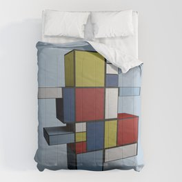Composition with Red Blue and Yellow Comforters