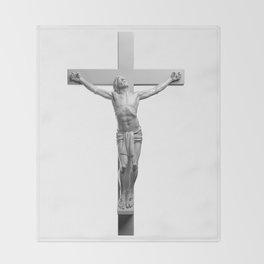 Jesus On The Cross Throw Blanket