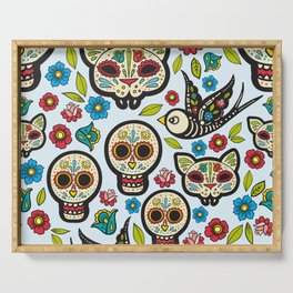 The day of the dead colorful pattern Serving Tray