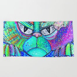 Psychedelic Vision Beach Towel