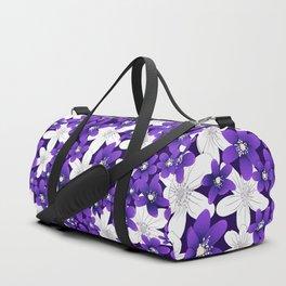 Ultra Violet Garden Duffle Bag