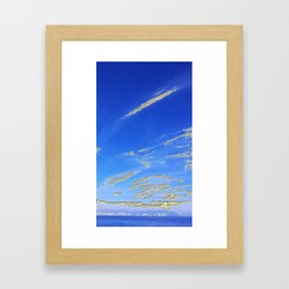 Mediterranean sky with mountains Framed Art Print